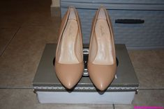 Ladies size 8 Sergio Bari NUDE Beyonce 3 3/4 high heel leather shoes