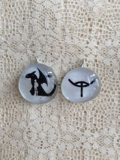 New item up!! How To Train Your Dragon 2 Set of 2 Pendants  etsy.com/shop/bluerainbowdesigns