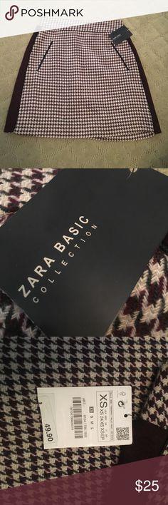Zara Collection Checkered Skirt NWT checkered Skirt by Zara Zara Skirts Midi