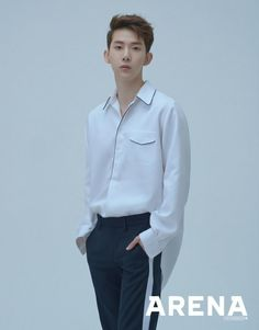 Jo Kwon is the latest male idol to pose for the fashion publication Arena Homme Plus Magazine. He has recently released his solo digital single 'Crosswalk. Jo Kwon exudes confidence and charm through his photo shoot. Solo Male, Fandom, My Big Love, Korean Fashion Men, Korean Entertainment, Korean Music, Stylish Men, Korean Singer, Boy Bands