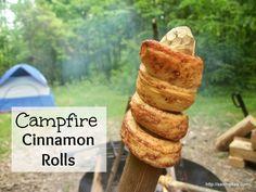 Campfire Cinnamon Rolls - It's amazing what a can of cinnamon rolls and a campfire can taste like! http://saving4six.com/2014/06/camp-fire-cinnamon-rolls.html