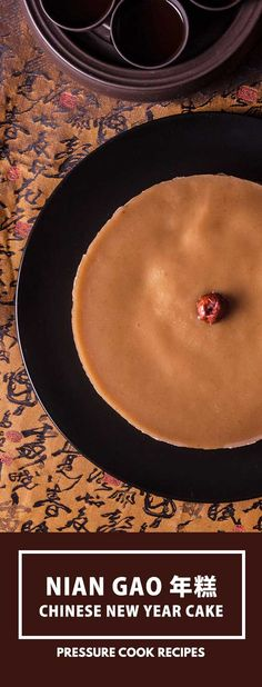 Nian Gao Recipe (Chinese New Year Cake): Make this traditional Chinese New Year Food - Sticky Sweet Chinese Rice Cake gift. via @pressurecookrec