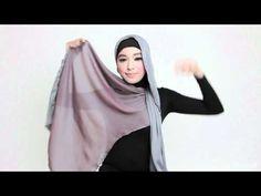 ▶ HIJAB TUTORIAL: Dual tone shawl - El Jumana