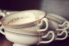 mismatched, vintage teacups will always have a place in my home :)