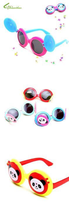 bb25fd83148 2016 Summer Children Sunglasses Cool Kids Boys Girls Panda Lovely Sun  Glasses Outdoor Anti-Reflective Wholesale