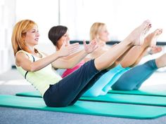 Lean Back: To flatten your waist, Equinox Fitness Manager, Will Amason, recommends a move called 'the boat.' #tone #tummy