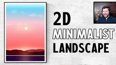 Inkscape Tutorial: How to Make Minimalist 2D Flat Vector Landscape Art u... Inkscape Tutorials, Minimalist Landscape, Vector Graphics, Landscape Art, 2d, Flat, Learning, Bass, Studying