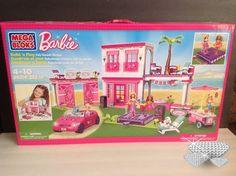NWT Barbie Mega Bloks Build N' Play Mega Beach House #JakksPacific