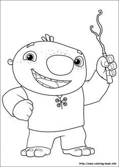 Wallykazam coloring picture
