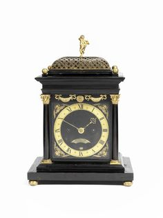 A highly important, recently discovered, English ebony bracket clock attributable to Ahasuerus Fromanteel