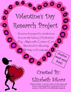 This is similar to my other research project mini books- students will read nonfiction text(s), take notes, and transform the information into their own mini books! So many times, the focus of Valentine's Day is the class party, but this will put some meaning behind the holiday.