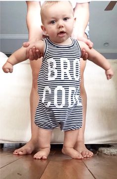 A personal favorite from my Etsy shop https://www.etsy.com/listing/239707030/sleveless-onesie-romper-summer-tank-bro