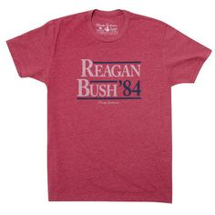 Rowdy Gentleman Reagan Bush Vintage Tee in Cardinal Red Preppy Inspiration, Reagan Bush, Champagne Taste, Retro Shirts, Cute Tshirts, Vintage Tees, Gentleman, Hoodies, Mens Tops