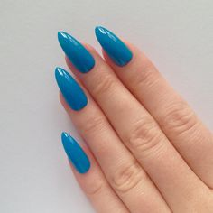 Blue Stiletto nails, Fake nails, Stiletto nails, Press on stiletto nails, Nail art, Nails, Acrylic nails, Stiletto nail, Fake nail ($18) found on Polyvore featuring beauty products, nail care, nail treatments, nails and nail polish