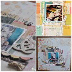 inspiración e interpretación de una pagina de scrapbooking por mis momentos en papel
