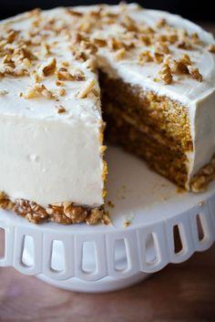 cream frosting moist carrot cake for 2014 Thanksgiving with cheese - dessert, pecan #2014 #Thanksgiving #carrot #cake #dessert
