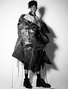 Deux Hommes interview with Jessica Walsh (Parsons MFA) Weird Fashion, Fashion Art, Runway Fashion, High Fashion, Mens Fashion, Fashion Design, Essentiels Mode, Deconstruction Fashion, Techno
