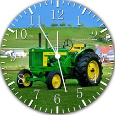 New John Deere wall clock, Room Decor. #8 Huge Large size wall clock 14""