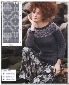 Knitting Blogs, Knitting Charts, Knitting Designs, Knitting Stitches, Knitting Patterns Free, Knit Patterns, Baby Knitting, Tejido Fair Isle, Nordic Sweater