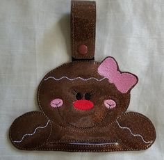 Christmas Kitchen Towel HolderGingerbread by RenegadesCreations Towel Girl, Christmas Kitchen Towels, Handmade Kitchens, Kitchen And Bath, Gingerbread Cookies, Towel Holders, Embroidery, Unique Jewelry, Handmade Gifts