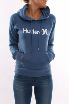 Hurley - One & Only Heather Pop Fleece Heather Indigo $70 Jeanjail.com.au