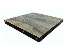 New In-Outdoor Weathered Barn Wood Table Top Steel Edge