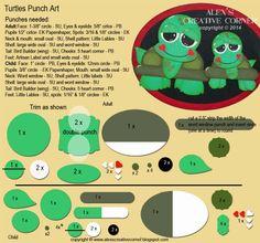 Alex's Creative Corner: Turtle Punch Art Instructions
