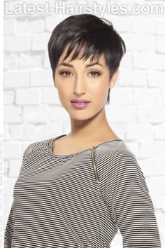 Structured Short Haircut with Bangs