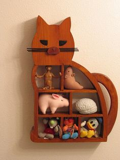 Cat Shelf by hedgeman, via Flickr