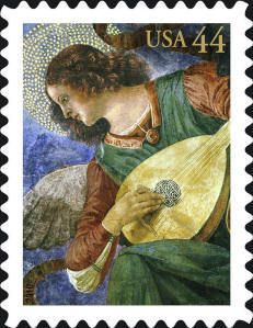 2010 44c Christmas, Angel with Lute Scott 4477 Mint F/VF NH  www.saratogatrading.com