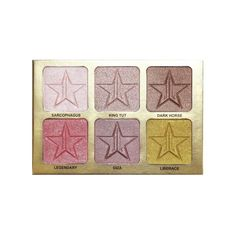 """Introducing our """"24 Karat"""" Skin Frost™ Pro Palette! This travel-friendly palette features six warm-toned pressed highlighters, giving you options to add glow to"""