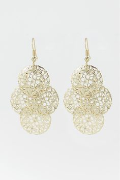 Dressing Your Truth - Type 1 Morning Song Earrings Rise and shine with these classic Type 1 earrings! Light weight gold colored. 2 1/2 inches in length French Hook