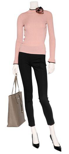 Audrey Hepburn inspired -- Get the look with CAbi Spring '13 Piqué Pants!! Love!!