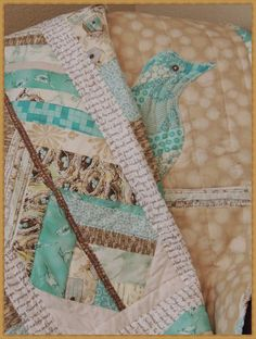 bird and feather quilt