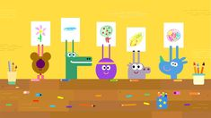The Drawing Badge – Hey Duggee Series 1 – Hey Duggee - vidhome My Character, Character Design, Kids Graphic Design, Cute Monsters, Cartoon Pics, Stories For Kids, Business Card Design, A Team, Graphic Illustration