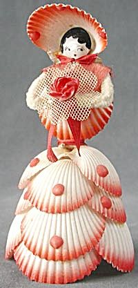 Vintage seashell doll