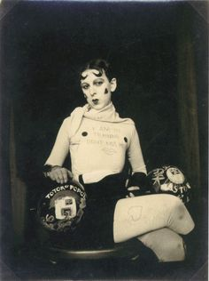 """Claude Cahun. """"I am in training. Don't kiss me."""""""