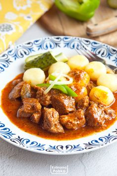 Dumplings, Wok, Stew, Curry, Food And Drink, Cooking Recipes, Dinner, Ethnic Recipes, Food Ideas
