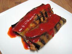 "Dukan Diet Recipe Chicken and Eggplant ""Enchiladas"""
