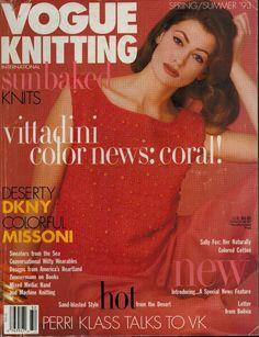 VOGUE KNITTING Spring Summer 1993 Folk Art Sweaters Vittadini Missoni Patterns #VogueKnitting #Sweaters #KnittingPatterns