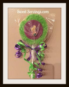 Tinkerbell Rice Krispie pops Candy land Table by http://www.sweetservings.com http://www.facebook.com/sweetservings