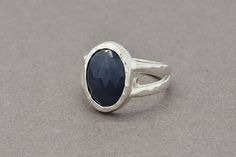 Sterling Silver Sapphire Ring Natural Sapphire by SuttonSmithworks