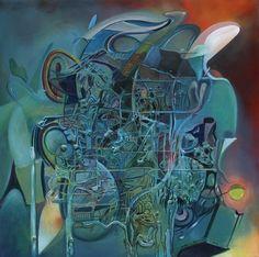 14 morte e vita oltre l'universo percettibile 2011 80x80 t.mista su tela. Autore Franco Bulfarini (tutti i diritti riservati - per pubblicare chiedere autorizzazione all'autore) - Per contatti: bulfarte@gmail.com
