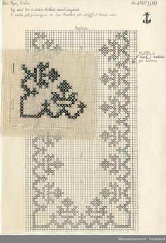 Cross Stitch Borders, Cross Stitching, Cross Stitch Patterns, Knitting Patterns, Filet Crochet, Crochet Tablecloth Pattern, Creative Embroidery, Thread Art, Bargello