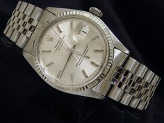 Mens #Rolex Stainless Steel Datejust Date #Watch W/Silver