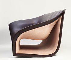 Split sofa and chairs alex hull studio 5 Inspired by the Movement of the Waves: Split Leather Sofa&Chairs