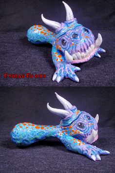 Awkore the Flamebreath Dragon Converted Hand Blown by ZoomBiez, $90.00
