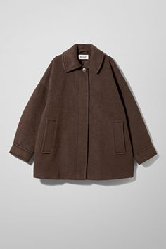 Zara Black Tweed Jewel Button with Contrasting Sleeves Jacket Size 4 (S)