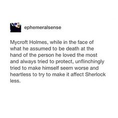 """+ [ THIS SCENE SHOOK ME Sherlock pointing the gun at himself in The Final Problem instead of at Mycroft was his way of returning the sentiment and saying """"your loss would break my heart too"""". They both have grown so much through the seasons . Okay but can we talk about that tackle hug Sherlock gave to Mycroft during their picnic? Now I can't help but imagine a tiny little Sherlock begging for Mycroft to play pirates with him] #sherlock #mycroftholmes #markgatiss #benedictcumberbatch"""