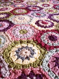Country Rose: FO: Hexagon Blanket (made for Lettie)